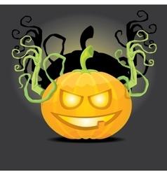 Smiling Halloween Pumpkin background vector image vector image