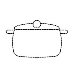 soup pan cap equipment vector image