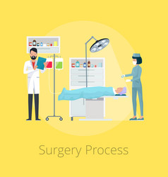 Surgery process visualization vector