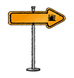 Traffic signal arrow guide vector