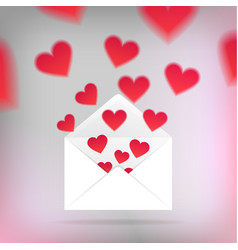 valentine card template vector image