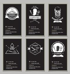 Visiting card design barbershop vector