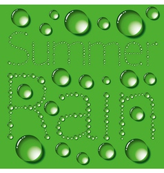 Water Drop Words On Green vector image vector image