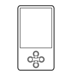 Mobile music player icon vector