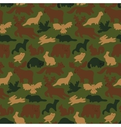 wild forest animals vector image