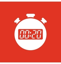 The 20 seconds minutes stopwatch icon clock and vector