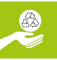 Hands together recycle environment concept vector