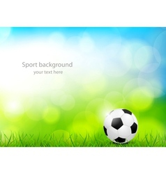 Background with soccer ball vector