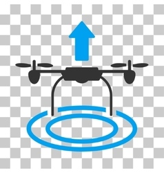 Start drone icon vector