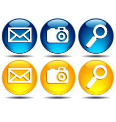 Search picture email icons vector