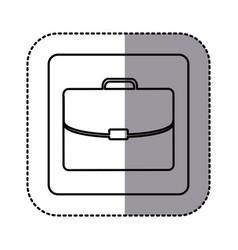 figure emblem suitcase icon vector image