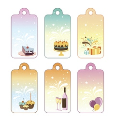 Set of celebration labels vector