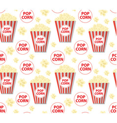 popcorn seamless pattern endless texture vector image