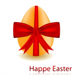 Egg with a red bow vector