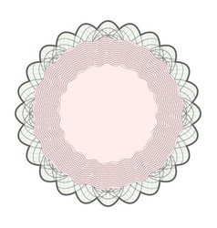 Guilloche rosette  rosette elements for vector