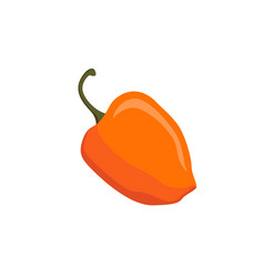 yellow cartoon pepper isolated on white backgroud vector image