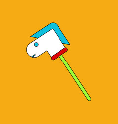 flat icon design collection stick horse toy vector image