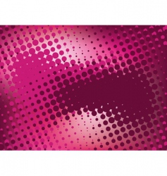 Pink abstract background with halftone vector