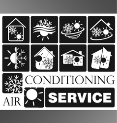 Air condicioning set vector
