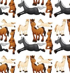 Seamless horse vector