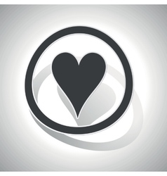 Curved hearts sign icon vector