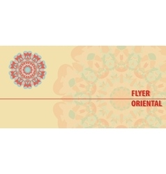 Invitation blank flyer abstract retro ornate vector