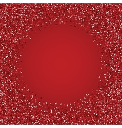 Glitter red round frame vector