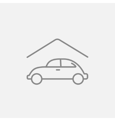 Car garage line icon vector