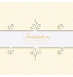 A modern invitation vector