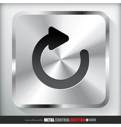 Metal reload button applicated for html and flash vector