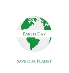 Earth day textile realistic label design vector