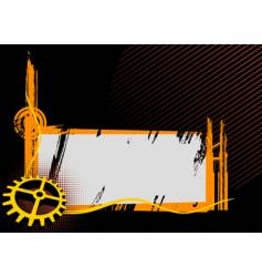 Black and orange industrial frame vector