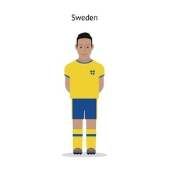 Football kit sweden vector