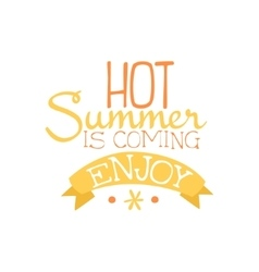 Summer is coming colorful ad vector