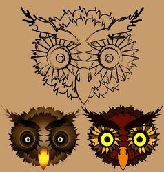 The heads of owls vector