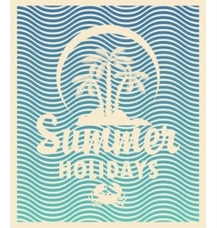 Tourism banner on a summer vector