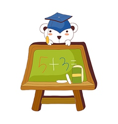 A view of blackboard vector image