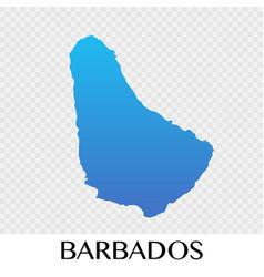 Barbados map in north america continent design vector