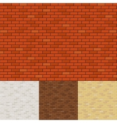Brick wall backgrounds vector