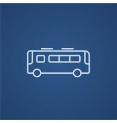 Bus line icon vector image vector image