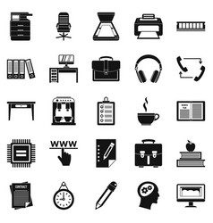 Cafe icons set simple style vector