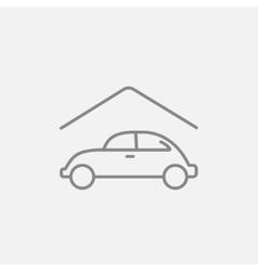 Car garage line icon vector
