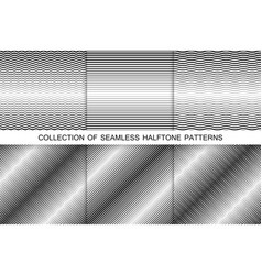 Collection of halftone seamless backgrounds vector