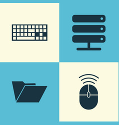 computer icons set collection of computer mouse vector image vector image
