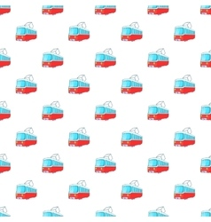 Electric train pattern cartoon style vector