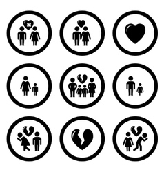 family situation symbols vector image vector image