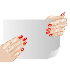 female hands and nails vector image vector image