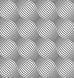 Gray ornament diagonal dotted bulging waves vector image vector image