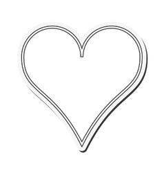 Hear love passion shape design vector