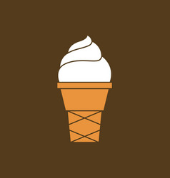 Ice cream gelato in cone vector
